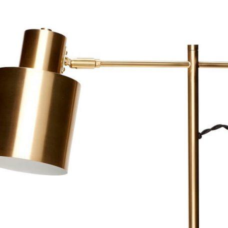 Hubsch Interior - Messing tafellamp met ronde voet - 38xh56cm - (890490)