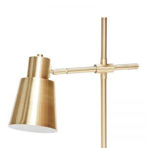 Hubsch Interior - Messing tafellamp met zwart marmeren voet - 36x18xh64cm - (890304)