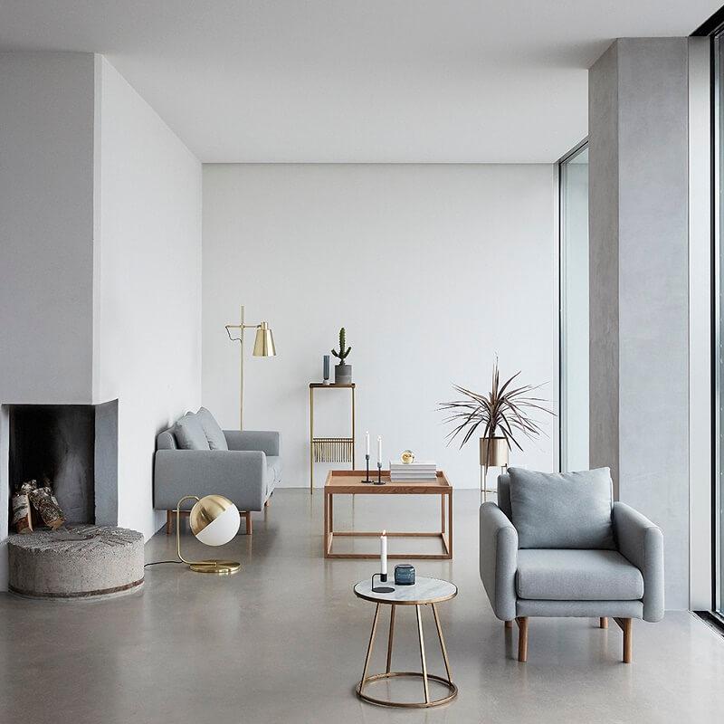 hubsch interior messing tafellamp met. Black Bedroom Furniture Sets. Home Design Ideas