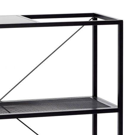 Hubsch Interior - Opbergrek van zwart metaal met drie schappen - (020504)