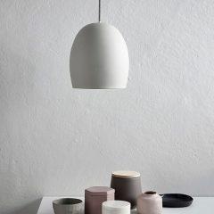 Hubsch Interior - Ronde hanglamp van beton - 23xh30cm - (479005)
