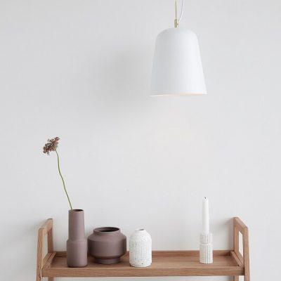 Hubsch Interior - Ronde hanglamp van mat wit metaal - (990608)