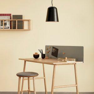 Hubsch Interior - Ronde hanglamp van mat zwart metaal - 23xh30cm - (990609)