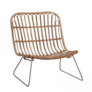 Hubsch Interior - Rotan lounge stoel, naturel - 50x69xh69cm - (319024)