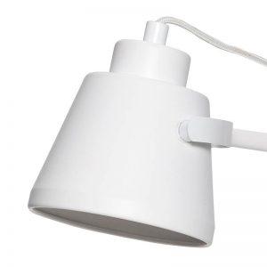 Hubsch Interior - Verstelbare bureaulamp in mat wit - 40xh41cm - (890604)