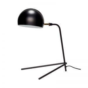 Hubsch Interior - Verstelbare tafellamp mat zwart en geborsteld messing - (370410)