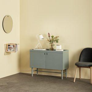 Hubsch Interior - Verstelbare tafellamp wit en messing - 990611 (4)
