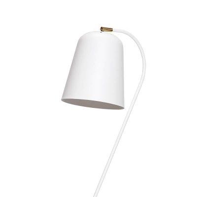 Hubsch Interior - Verstelbare vloerlamp mat wit en messing - (990606)
