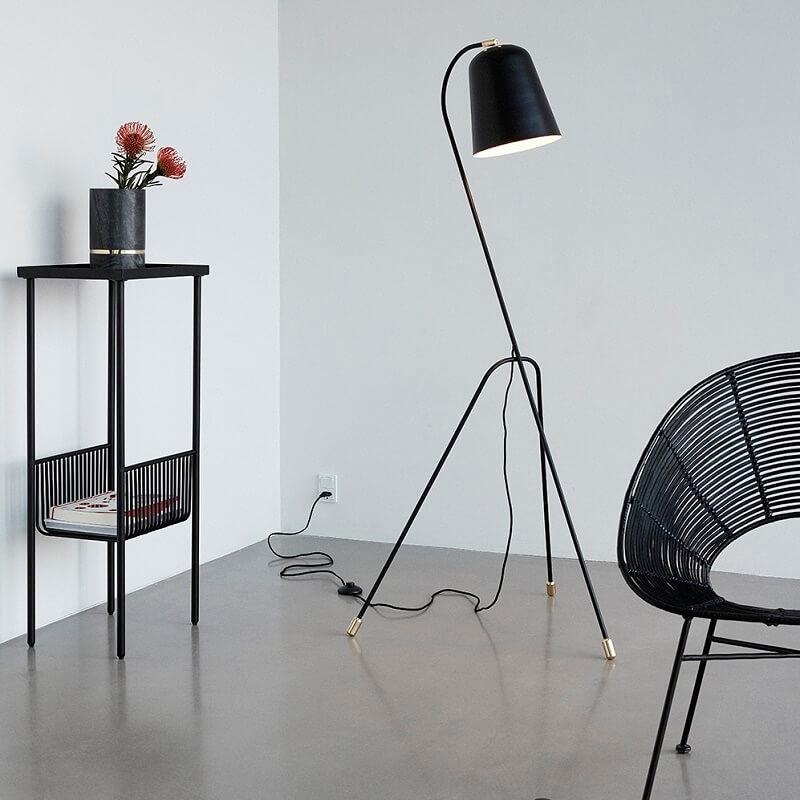 hubsch interior verstelbare vloerlamp. Black Bedroom Furniture Sets. Home Design Ideas