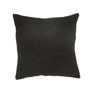 Hubsch Interior - Zwart kussen van jute en katoen - 50x50cm - (600107)