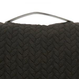 Hubsch Interior - Zwart sierkussen met een leren riem - 60x60cm - (130217)