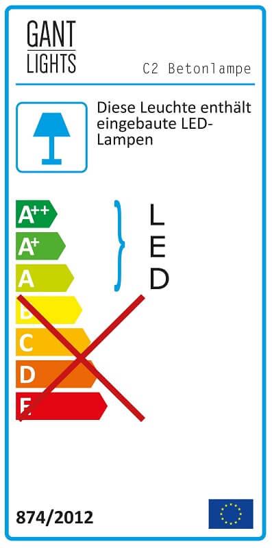 GANTlights C2 - Betonnen hanglamp met kap van cortenstaal - Energielabel