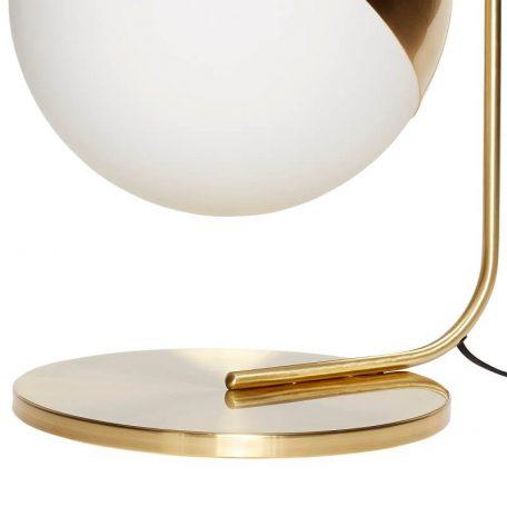 Hubsch Interior - Geborsteld messing vloerlamp met melkglas bol - (990604)