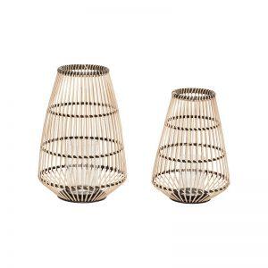 Hubsch Interior - Grote bamboe lantaarns, set van twee - (030602)