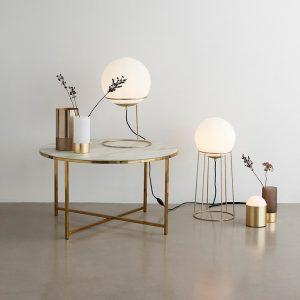Hubsch Interior - Ronde messing salontafel met marmer effect blad - (020612)