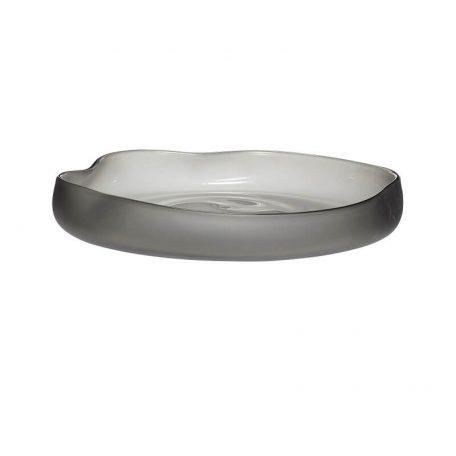 Hubsch Interior - Schalen van melkglas, smokey - (280601)