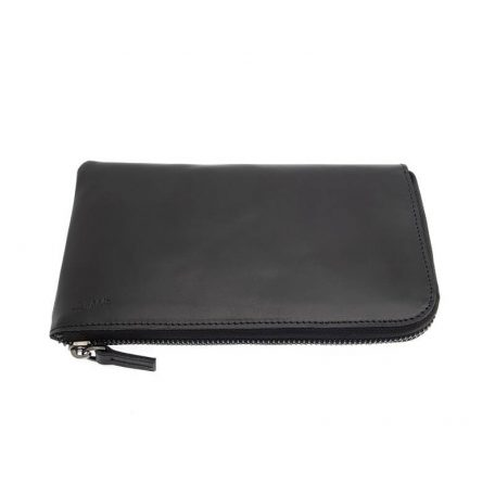 By WIRTH Carry My POUCH - leren telefoonhoes, opbergetui - 20x11 cm - ZWART
