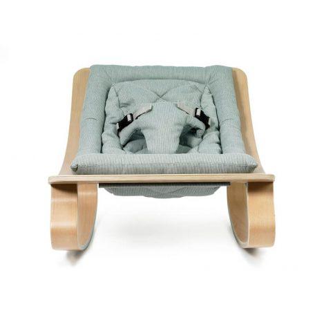 CHARLIE CRANE - LEVO beukenhouten wipstoeltje ARUBA BLUE - 40x75x46 cm