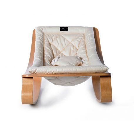 CHARLIE CRANE - LEVO beukenhouten wipstoeltje GENTLE WHITE - 40x75x46 cm