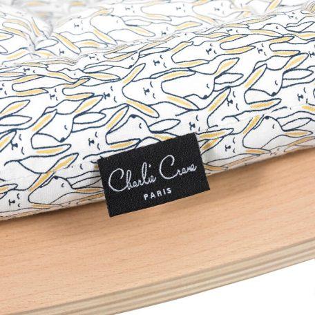 CHARLIE CRANE - LEVO beukenhouten wipstoeltje Rabbit - 40x75x46 cm