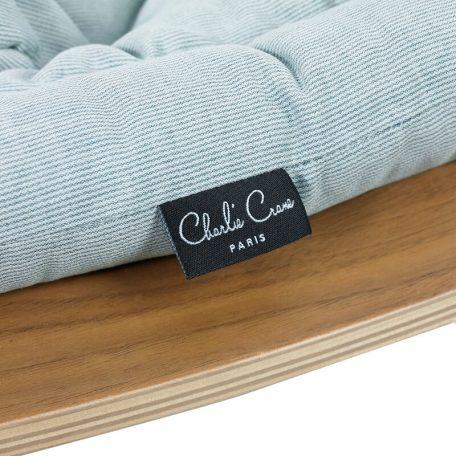 CHARLIE CRANE - LEVO walnoot wipstoeltje Aruba Blue - 40x75x46 cm