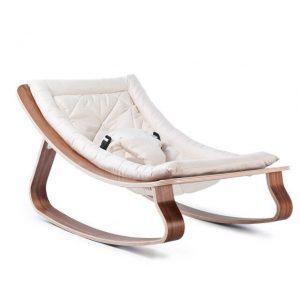 CHARLIE CRANE - LEVO walnoot wipstoeltje Gentle White - 40x75x46 cm