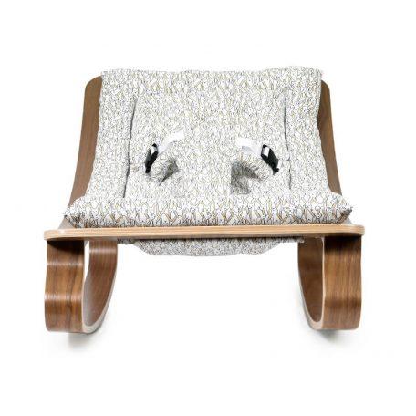 CHARLIE CRANE - LEVO walnoot wipstoeltje Rabbit - 40x75x46 cm