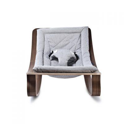 CHARLIE CRANE - LEVO walnoot wipstoeltje Sweet Grey - 40x75x46 cm