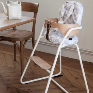 CHARLIE CRANE - TIBU TOD Metalen meegroei kinderstoel Gentle White CLOUD - WIT