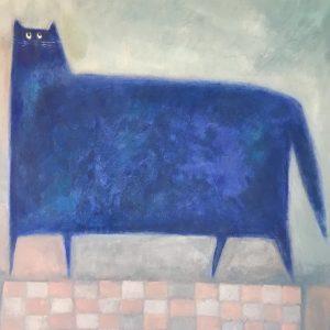 SASKIA KEURIS - Blauwe kat