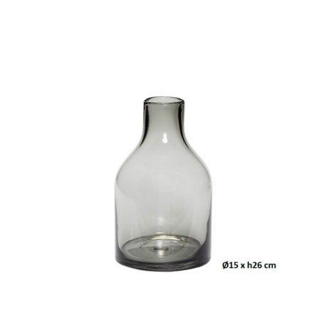 Hubsch Interior - Set vazen van grijs glas(280607)_3