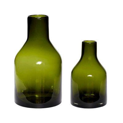 Hubsch Interior - Set vazen van groen glas(280606)