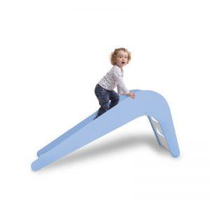 JUPIDUU - BLUE WHALE houten glijbaan - 145x43x68cm
