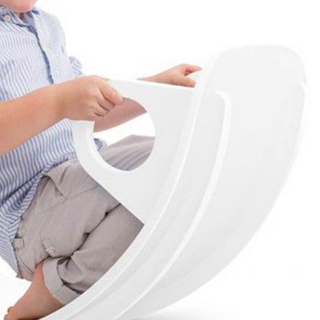 JUPIDUU - SEESAW WHITE RHINO wip, wobbel board - 85x40x28 cm