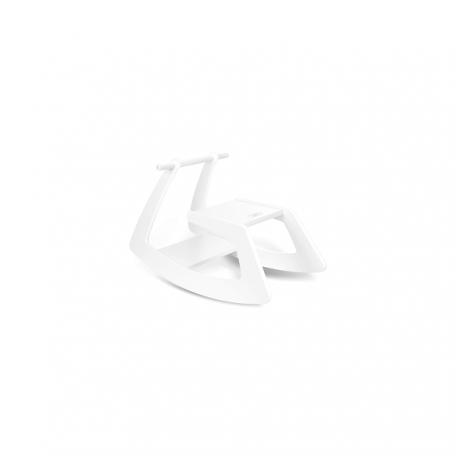 JUPIDUU - WHITE BUTTERFLY houten hobbelpaard - 74x37x47cm