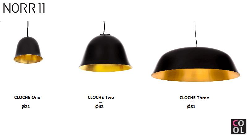 NORR11 - CLOCHE One Two Three_Hanglamp van aluminium en geborsteld messing