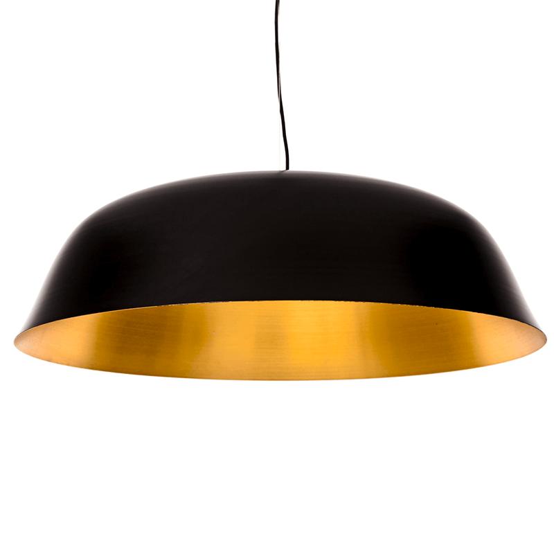 NORR11 - CLOCHE Three hanglamp van ZWART aluminium en messing -Ø81xH25cm