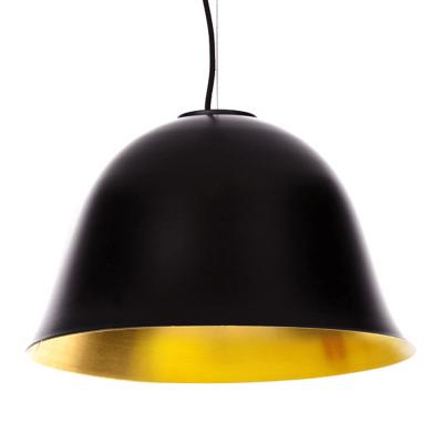 NORR11 - CLOCHE Two hanglamp van ZWART aluminium en messing -42 x h25cm