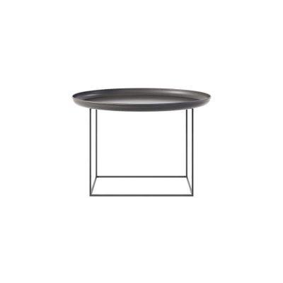 NORR11 - DUKE Medium ronde metalen salontafel -ZWART (Earth Black)