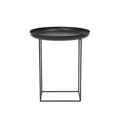 NORR11 - DUKE ronde metalen bijzettafel Small_ZWART -45xh52cm