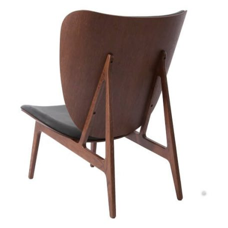 NORR11 - ELEPHANT CHAIR Eiken fauteuil bekleed met Vintage leer- Donker geolied_Antraciet