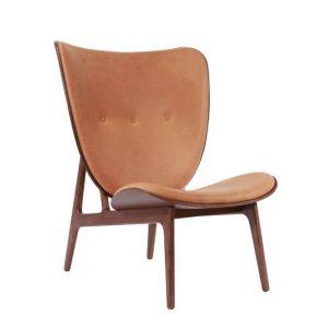 NORR11 - ELEPHANT CHAIR Eiken fauteuil bekleed met Vintage leer- Donker geolied_Cognac