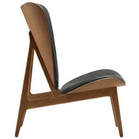 NORR11 - ELEPHANT CHAIR Eiken fauteuil bekleed met Vintage leer- Gerookt eiken_Antraciet