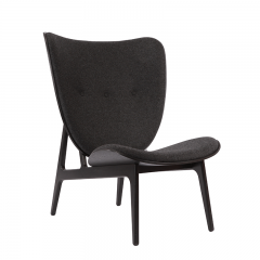 NORR11 - ELEPHANT CHAIR Eiken fauteuil bekleed met wol- Donkergrijs_Coal Grey