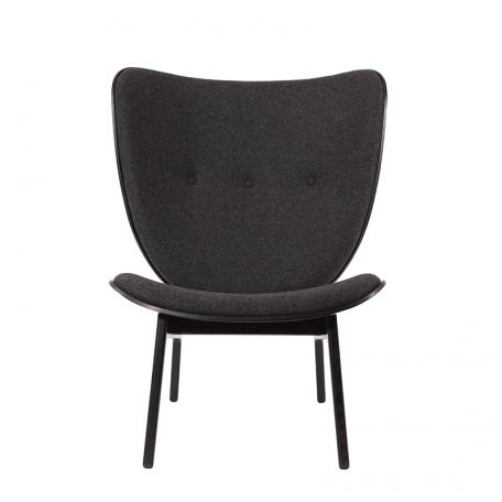NORR11 - ELEPHANT CHAIR Eiken fauteuil bekleed met wol- Donkergrijs_Coal Grey