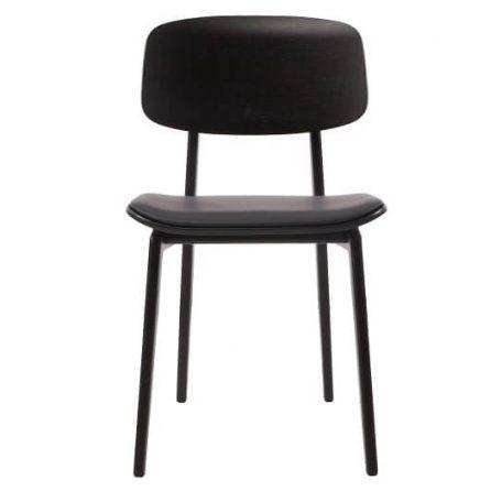 NORR11 - NY11 Zwart Eiken eetkamerstoel met zwart Premium leer