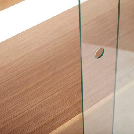 Hubsch Interior - Eiken vitrinekast met schuifdeuren van glas - (880724)