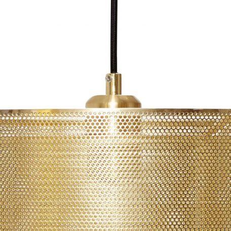 Hubsch Interior - Geborsteld messing hanglamp van metaalgaas - 40xh23cm - (990727)