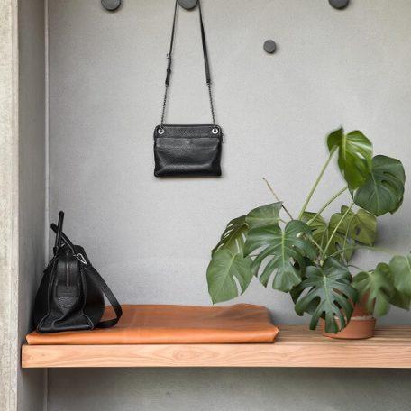 By WIRTH WOOD KNOT Big - eiken wandhaak - Zwart