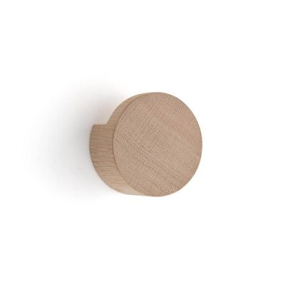 By WIRTH WOOD KNOT Medium - eiken wandhaakje - Naturel